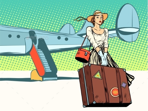 Girl Tourist Arrived - Travel Conceptual
