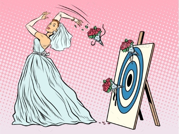 The Bride Throws Bouque on Target - Weddings Seasons/Holidays