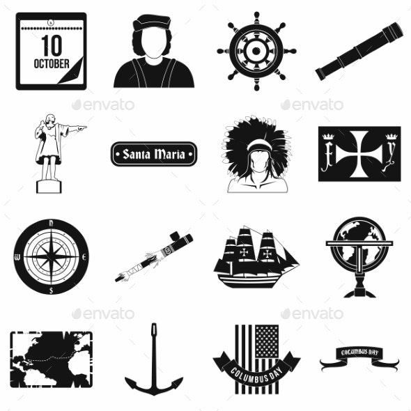 Happy Columbus Day Icons - Miscellaneous Icons