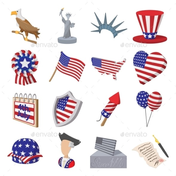 Independence Day Cartoon Icons - Miscellaneous Icons