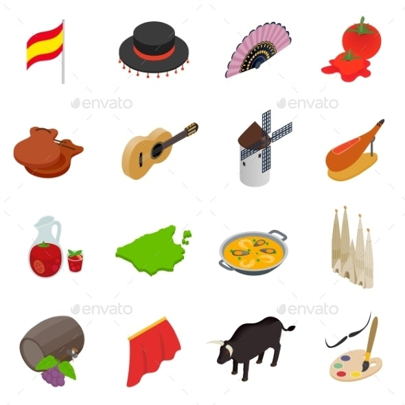 Spain Isometric 3d Icons - Miscellaneous Icons