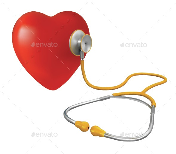 Heart and Stethoscope - Health/Medicine Conceptual