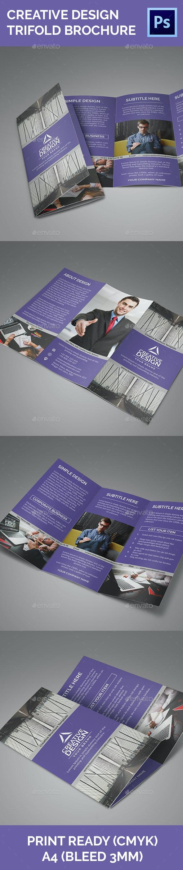 Creative Design Vol 2 Trifold Brochure - Corporate Brochures