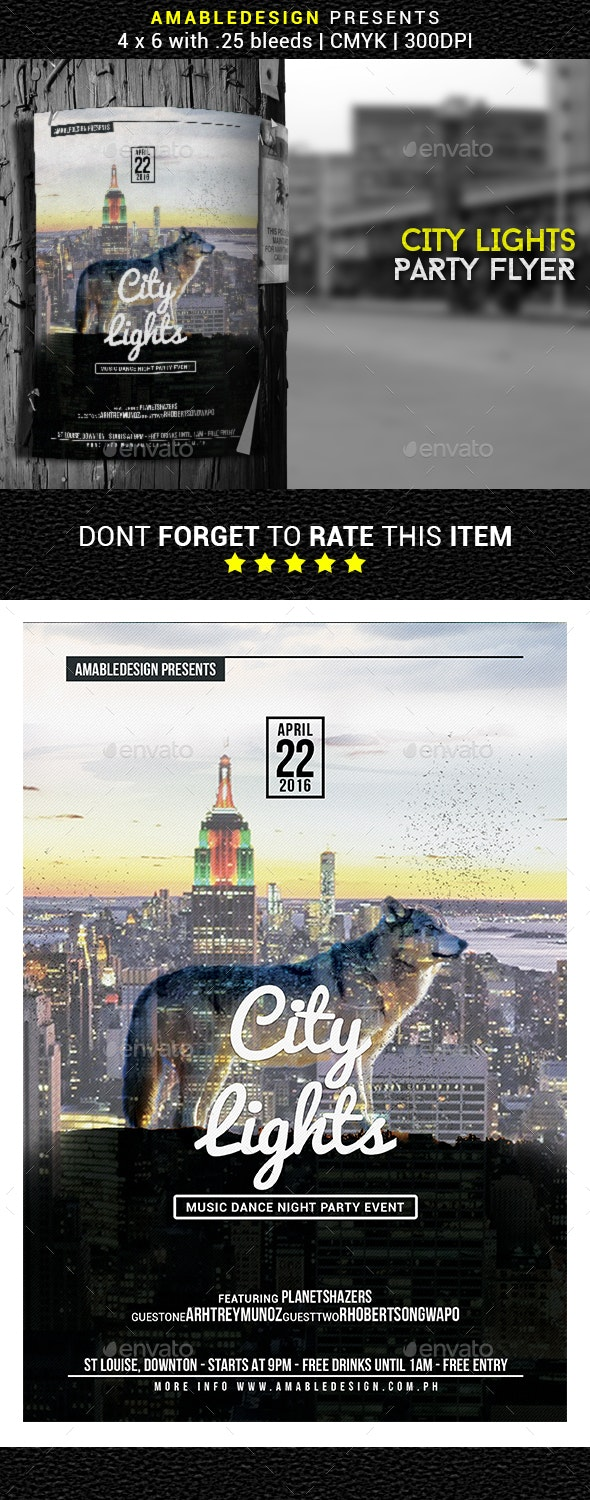 City Lights Flyer/Poster - Clubs & Parties Events