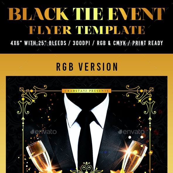 Black Tie Event Flyer Template