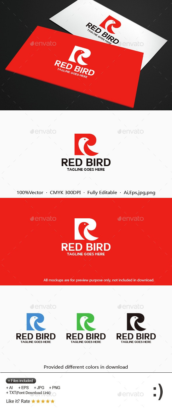 Red Bird - Letters Logo Templates