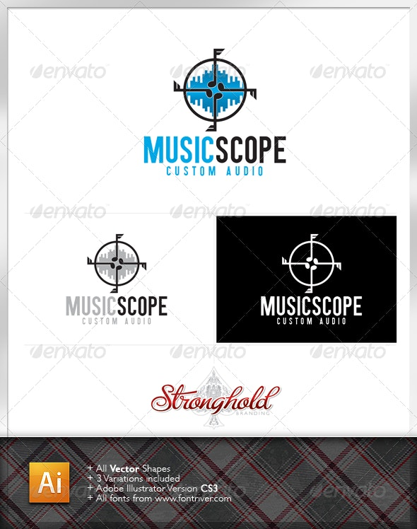 Music Scope Logo - Symbols Logo Templates