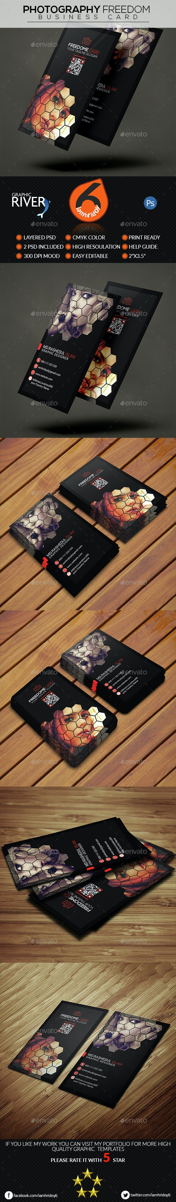 Photography Freedom Business Card - Business Cards Print Templates