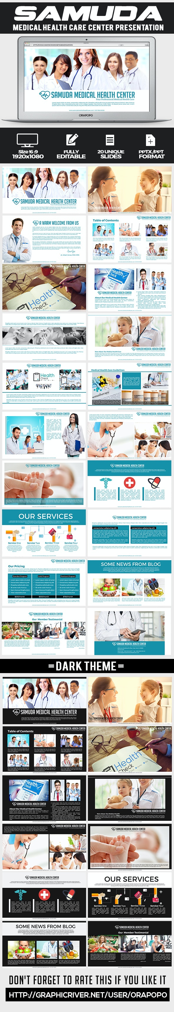 Samuda ~ Medical Health Care Presentation  - Creative PowerPoint Templates