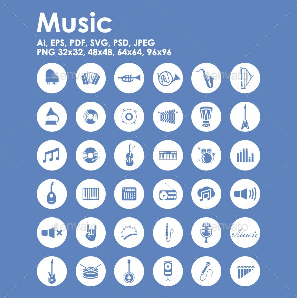 36 Music icons - Miscellaneous Icons