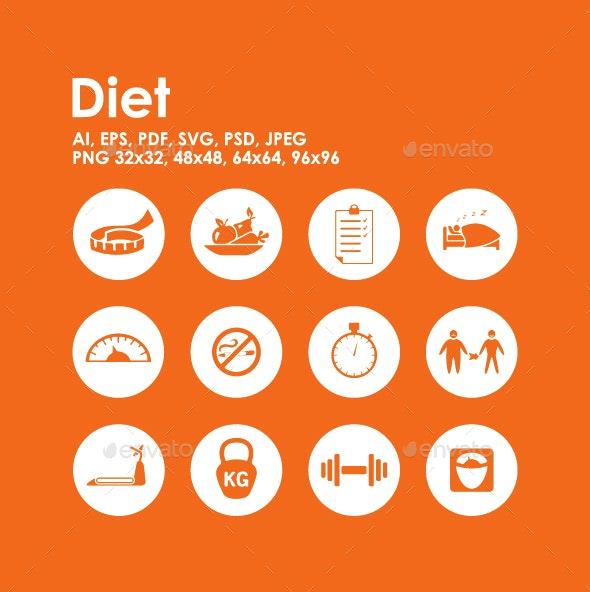 12 Diet icons