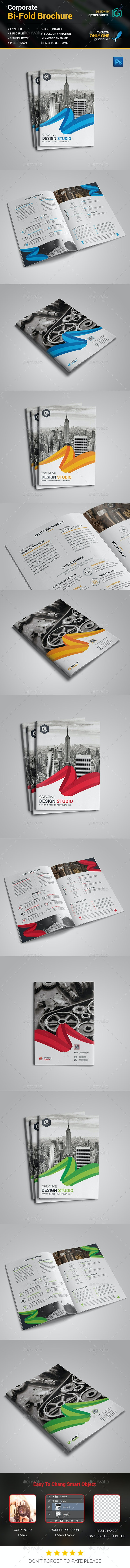 Bi-Fold Business Brochure Template - Brochures Print Templates