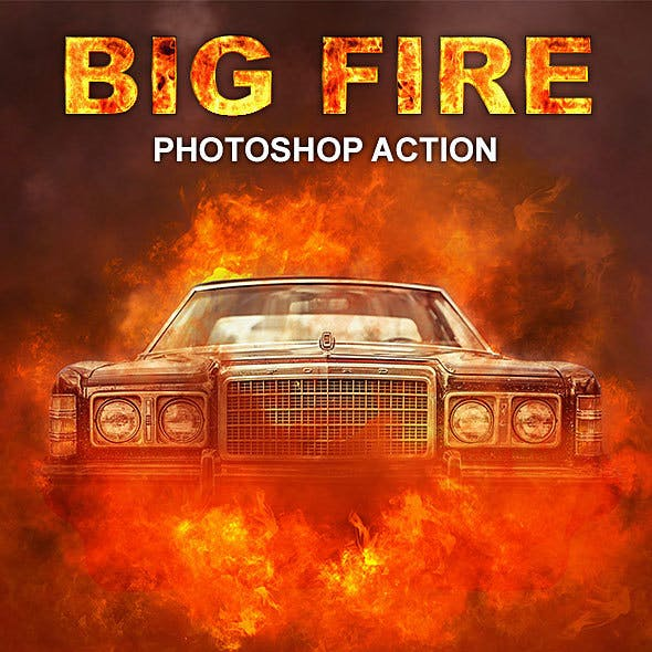 Big Fire Photoshop Action