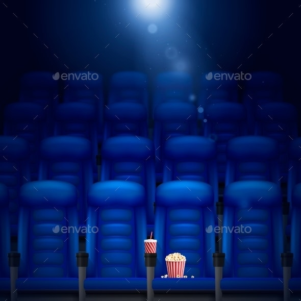 Empty Cinema Hall Illustration  - Man-made Objects Objects