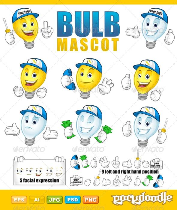 Bulb Mascot - Characters Vectors