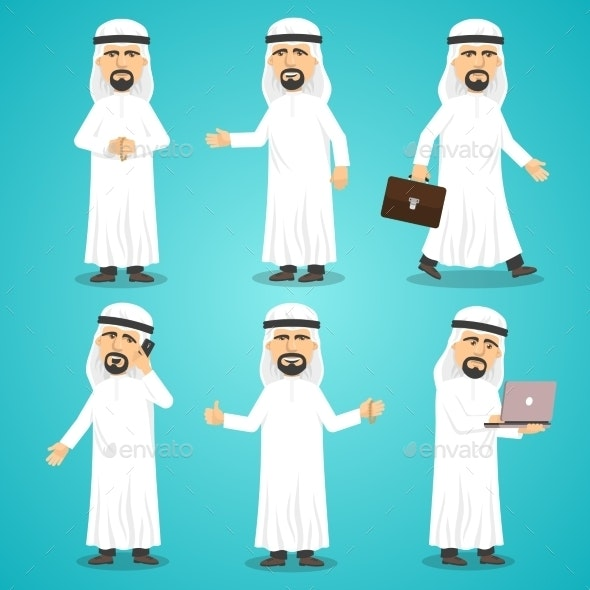 Arab Images Set - People Characters