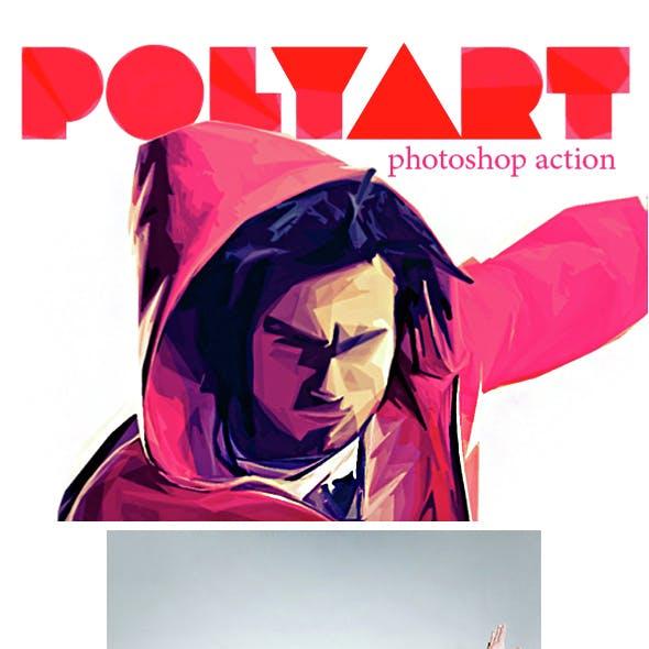 Polyart Photoshop Action