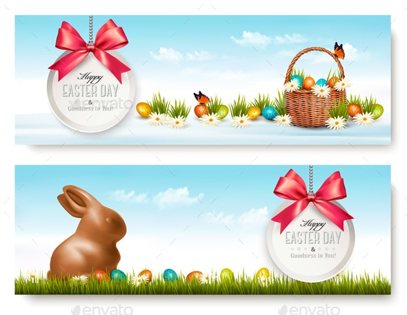 Two Easter Banners - Miscellaneous Seasons/Holidays