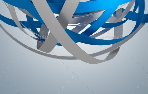 Abstract 3D Rendering Of Sphere With Rings - Abstract 3D Renders