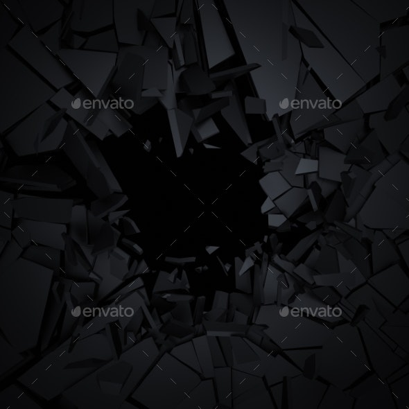 Abstract 3D Rendering Of Cracked Surface - 3D Backgrounds