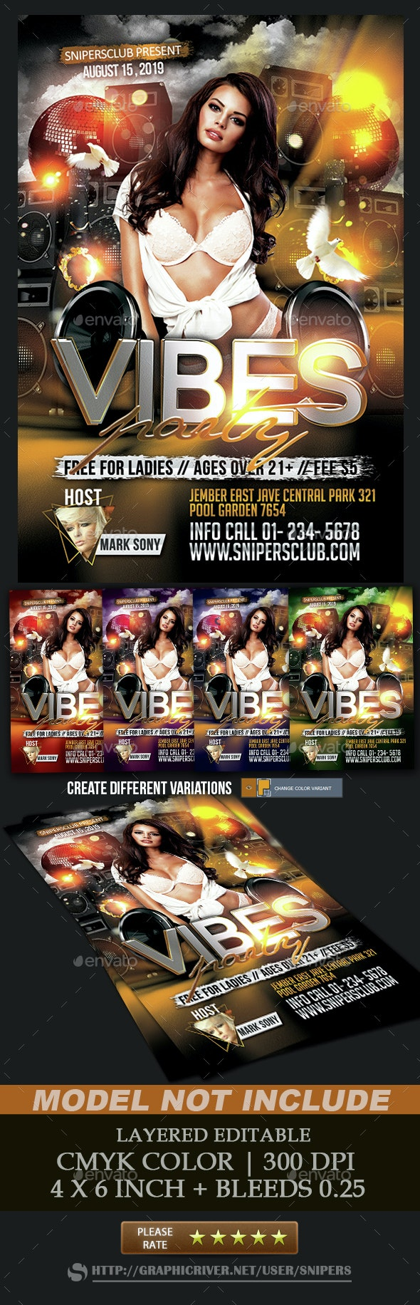Vibes Party - Events Flyers
