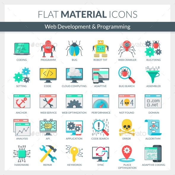 Web Development and Programming Icons - Web Icons