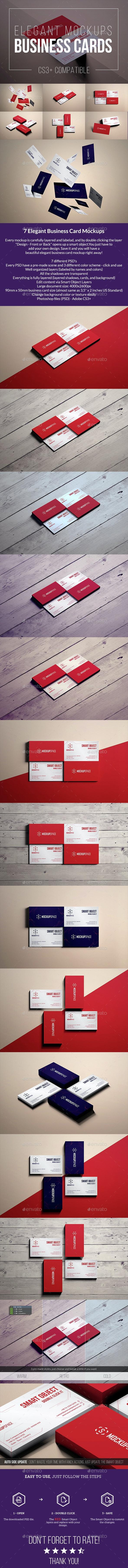 Elegant Business Cards Mock-up - Business Cards Print