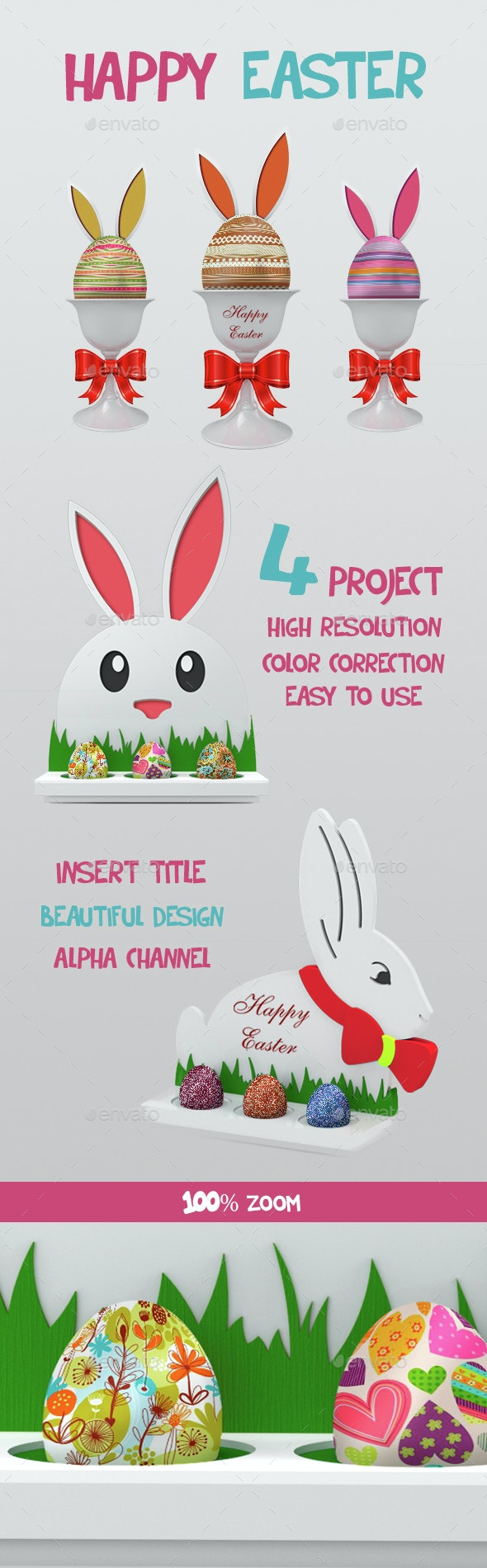 Happy Easter - Miscellaneous Product Mock-Ups
