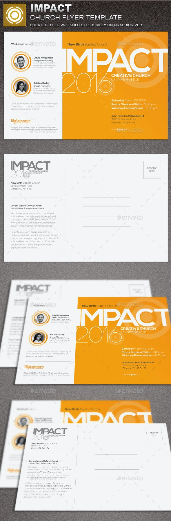 Impact Church Flyer Template - Church Flyers