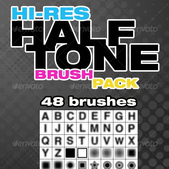 Hi-Res Halftone Brush Pack