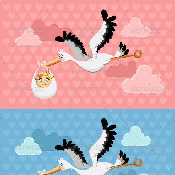Flying Stork Delivery Baby