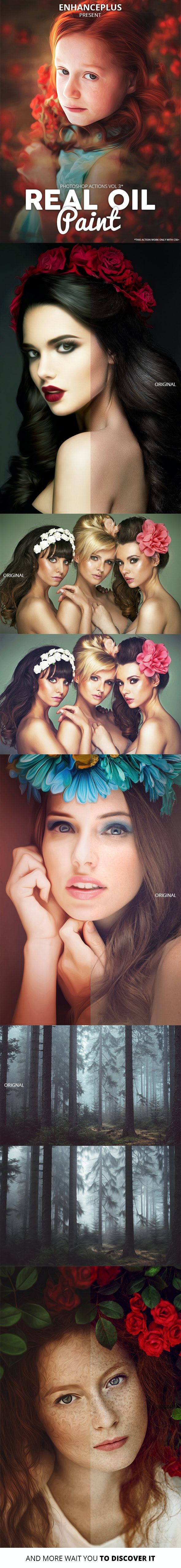 Real Oil Paint Vol3 Photoshop Actions - Photo Effects Actions