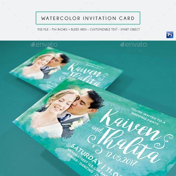 Watercolor Invitation Card