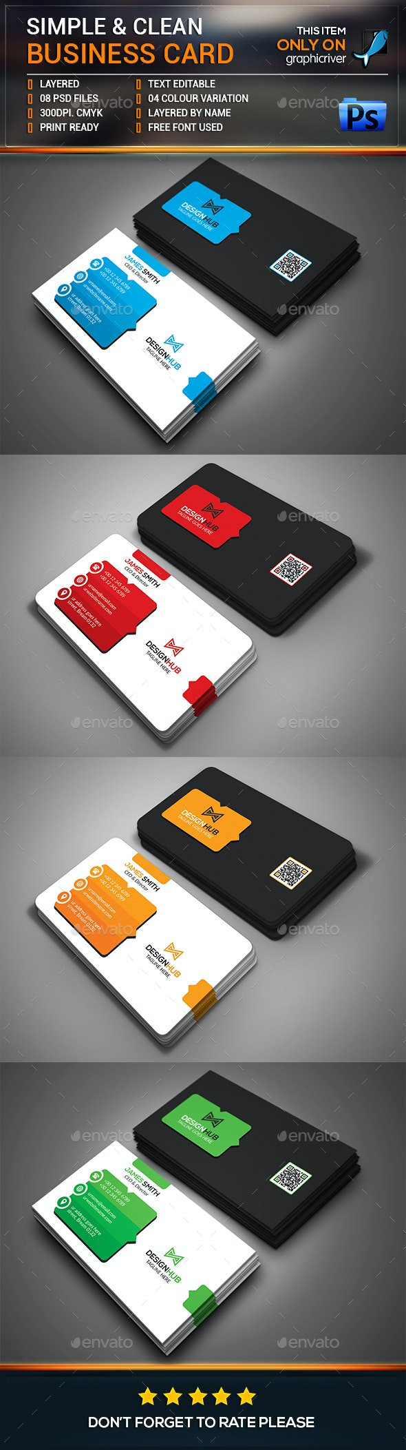 Simple & Clean Business Card - Corporate Business Cards