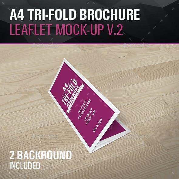 Tri-Fold Leaflet A4 brochure Mockups V.2