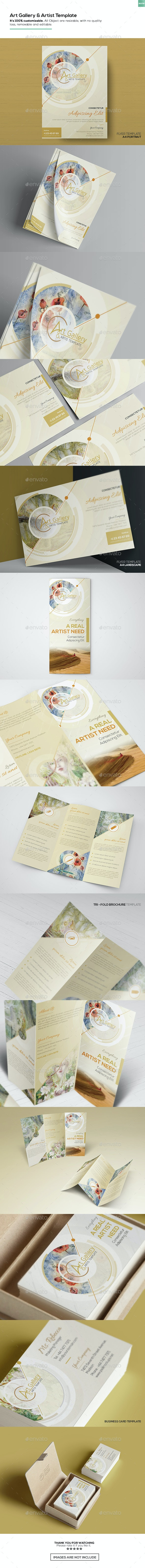 Art Gallery & Artist - Sets Template - Commerce Flyers