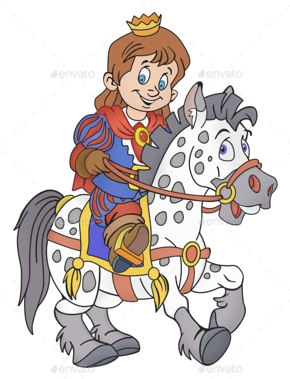 Prince On The Horse - Animals Characters