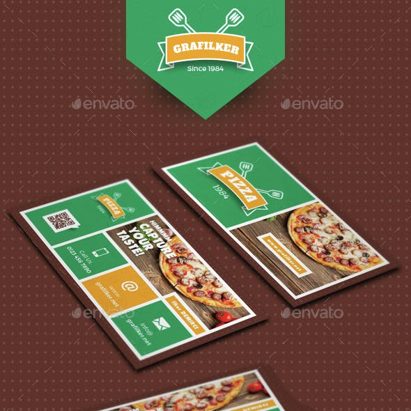 Pizza Shop Business Card Templates