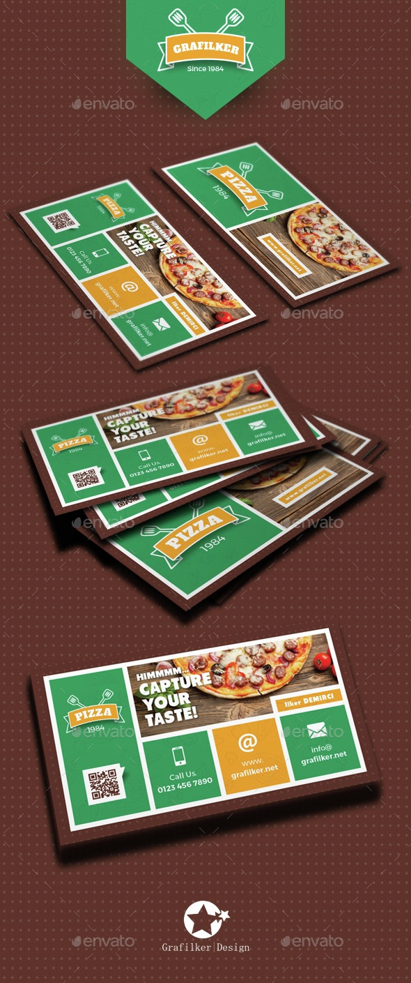 Pizza Shop Business Card Templates - Creative Business Cards
