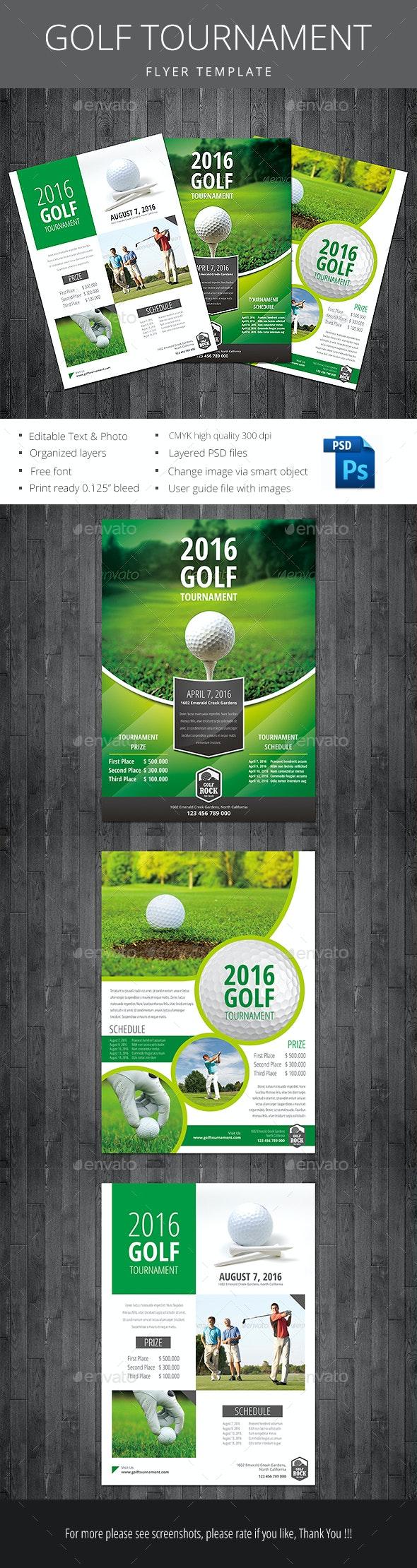Golf Tournament - Flyers Print Templates