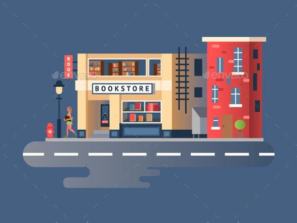 Book Shop Building - Buildings Objects