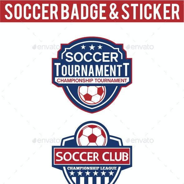 Soccer Badge & Sticker