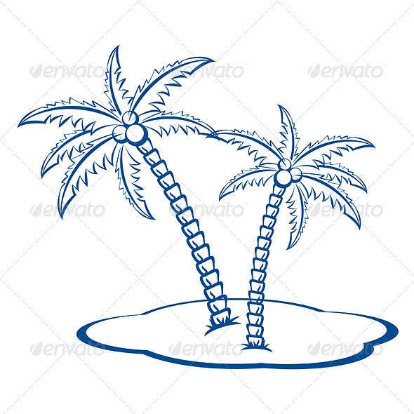 Silhouette Palm trees - Landscapes Nature