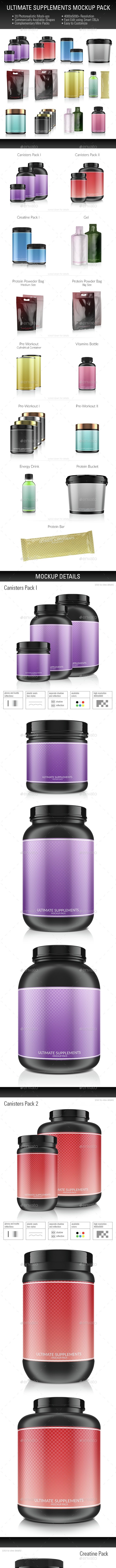 Ultimate Supplements Mockup Pack - Miscellaneous Packaging