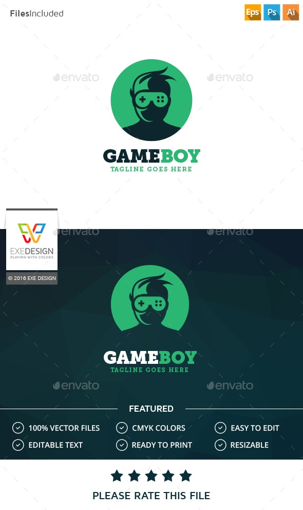 Game Boy Logo - Humans Logo Templates