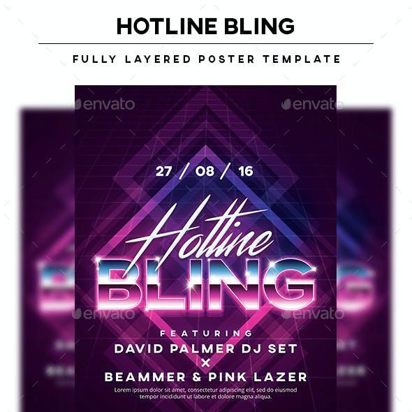 Hotline Bling Poster Template