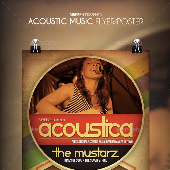 Acoustic Music Flyer / Poster