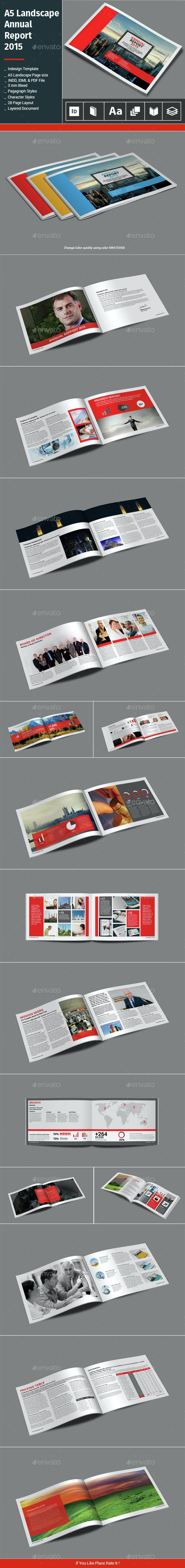 A5 Landscape Annual Report 2015 - Informational Brochures