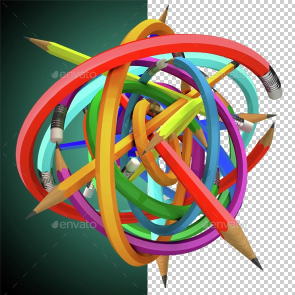 Bowl of Pencils - Miscellaneous 3D Renders