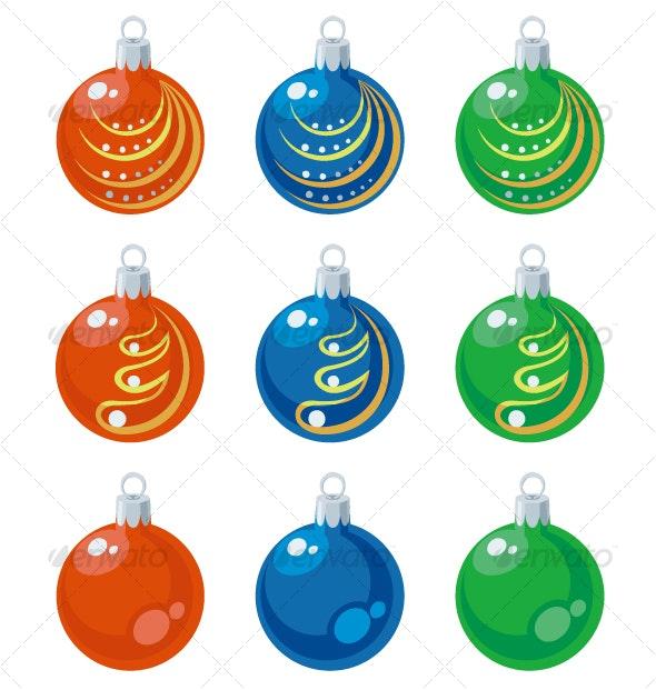 Balls xmas set color 01 - Seasons/Holidays Conceptual